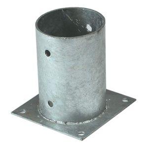 Aufschraubhülse 81 für runde Holzpfosten Ø 80 mm