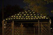 Lichternetz 3x2 4x2 3x3 m 200 LED Kabel weiß 5 m Zuleitung IP44