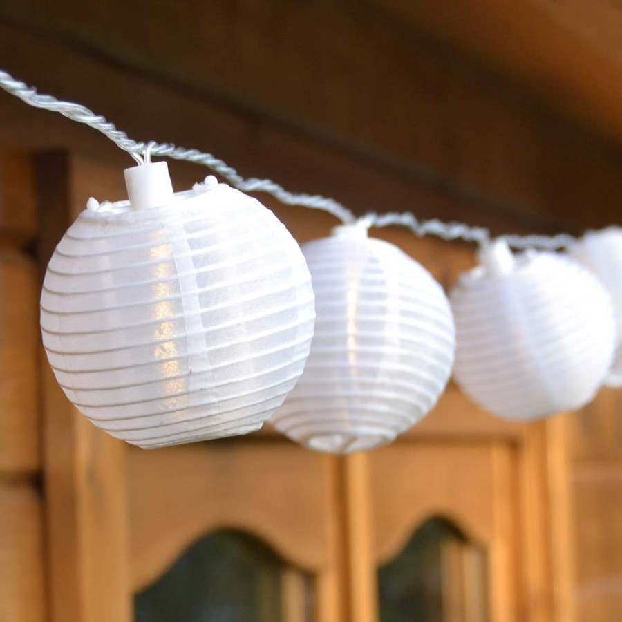 Lampion-Lichterkette mit 20 LED-Lampions