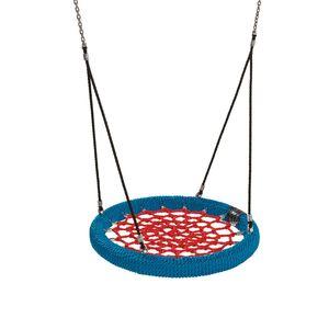 Nestschaukel Ø 100 cm rot/blau für Spielplatz öffentlich