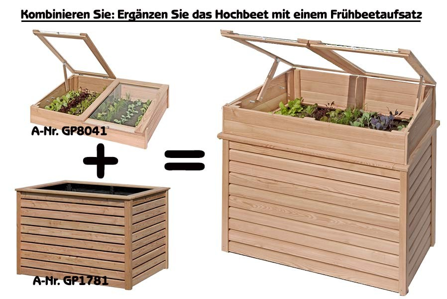 hochbeet 125x85x80 aus holz l rche kr uterbeet pflanzkasten f r terrasse garten ebay. Black Bedroom Furniture Sets. Home Design Ideas