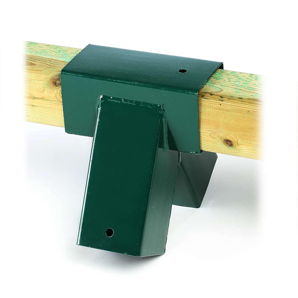 1 St. Schaukelverbinder Vierkantholz 9x9 cm grün