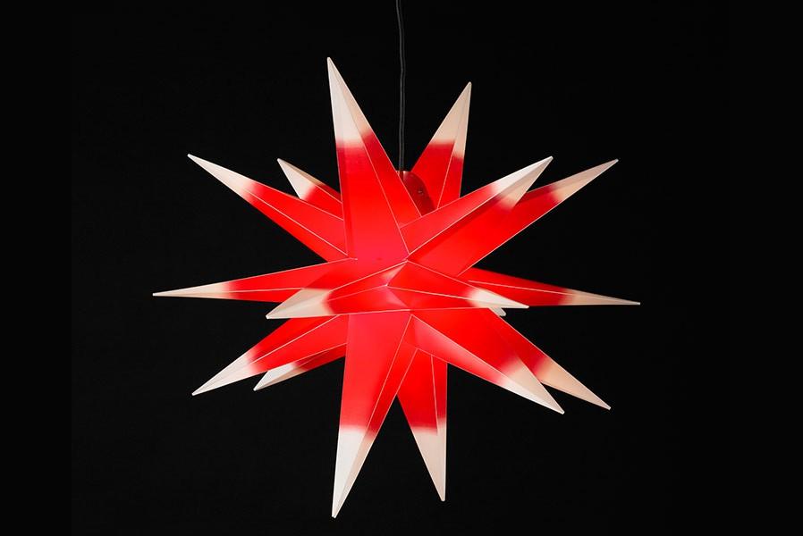 gro er weihnachtsstern 3d stern 100 cm rot wei au en. Black Bedroom Furniture Sets. Home Design Ideas