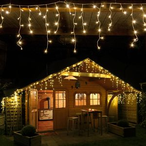 Eisregen-Lichterkette 168 LED warmweiß Länge 4,2 m