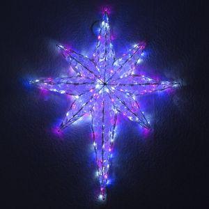 Acryl-Stern 90x50 cm in Kristall-Optik 192 LED Programme