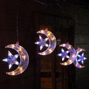 LED-Lichterkette 5 Halbmonde beleuchtet außen