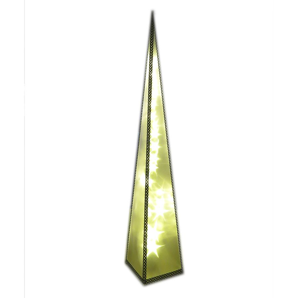 Pyramide 90 cm mit 24 LED drehend