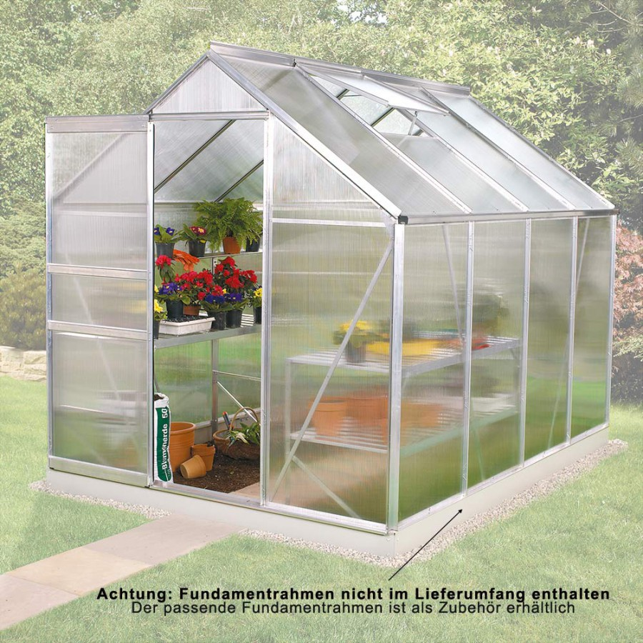 Gewächshaus-Bausatz Alu V-5000 Grundfläche 5 m²