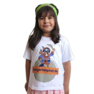 T-Shirt mit Gartenpirat-Motiv für Kinder von 3-11 Jahre