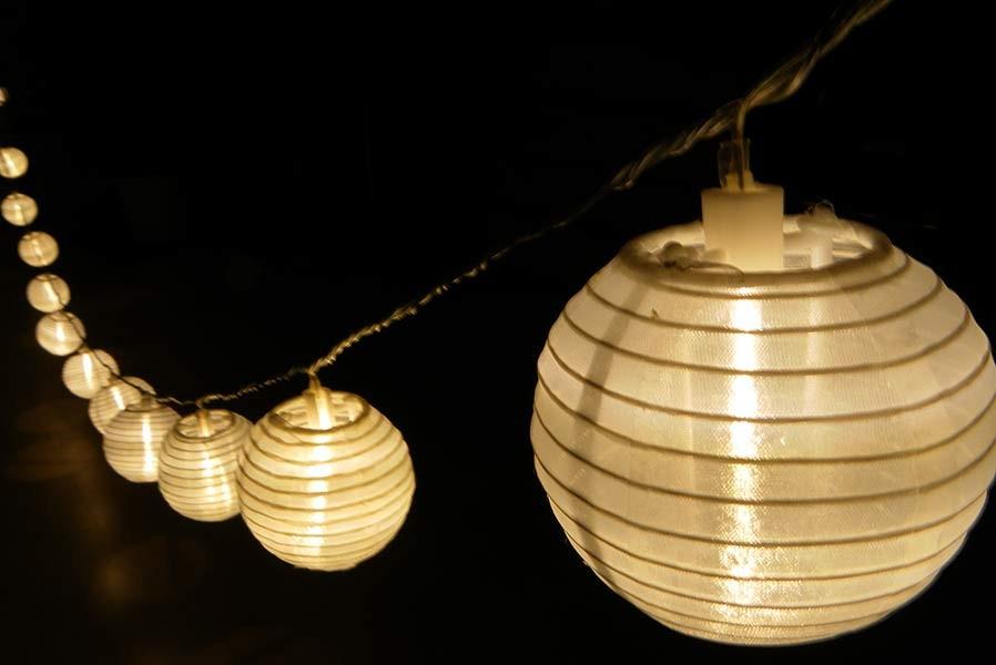 lampion led lichterkette garten au en. Black Bedroom Furniture Sets. Home Design Ideas