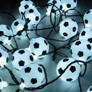 Party Lichterkette 12,5 m mit 50x LED-Fußball für innen außen