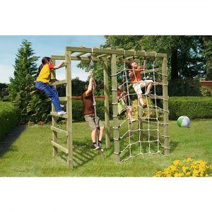 Klettergerüst für Kinder Spielgerüst Holz 240 x 120 cm