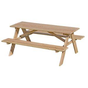 Kinder-Picknicktisch aus Lärchenholz unbehandelt