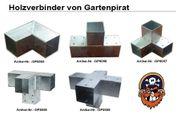 Holzverbinder Pfostenecke für 2x Balken 90x90 Pfostenverbinder