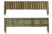 Beetumrandung aus Holz als Steckzaun mit 100 cm Länge