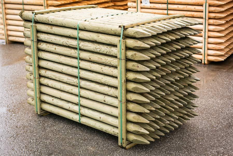 Pfahl 75 1 65 1 8 2m Holzpfahl Pfosten