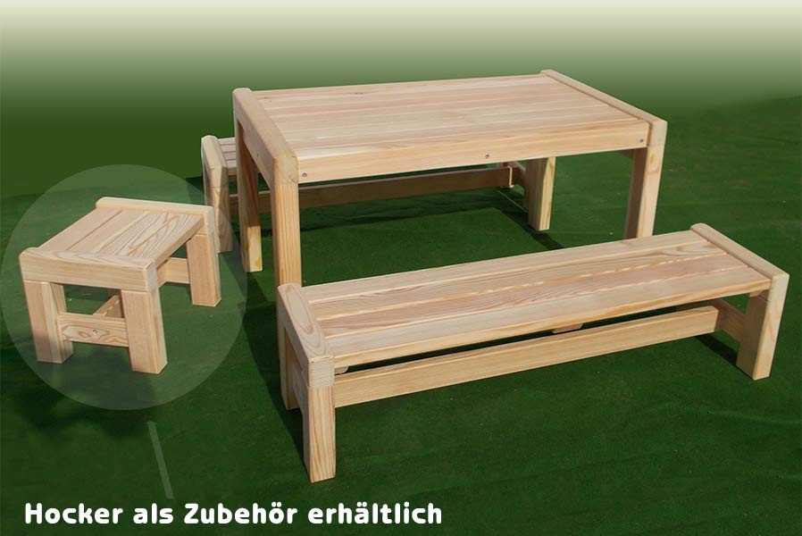 kindersitzgruppe kinderm bel kindertisch bank holz l rche massivholz unbehandelt ebay. Black Bedroom Furniture Sets. Home Design Ideas