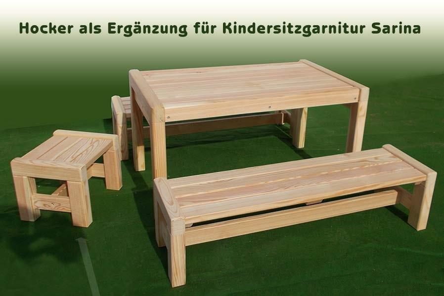 Kindermöbel holz  Hocker Kindermöbel Lärchenholz unbehandelt