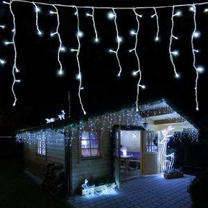 Eisregen Lichterkette 960 LED kaltweiß Länge 24 m