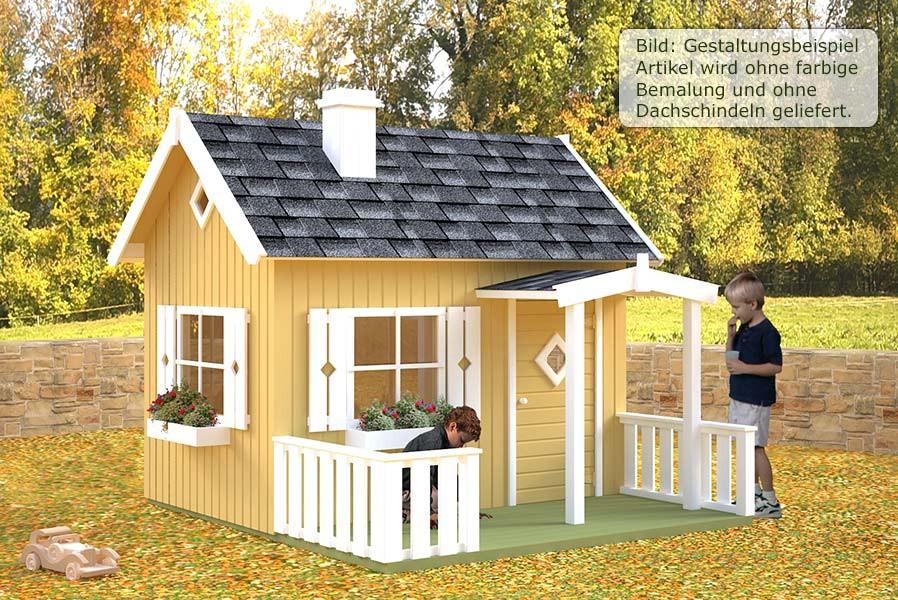 Kinderspielhaus Villa Mit Terrasse 233 X 257cm