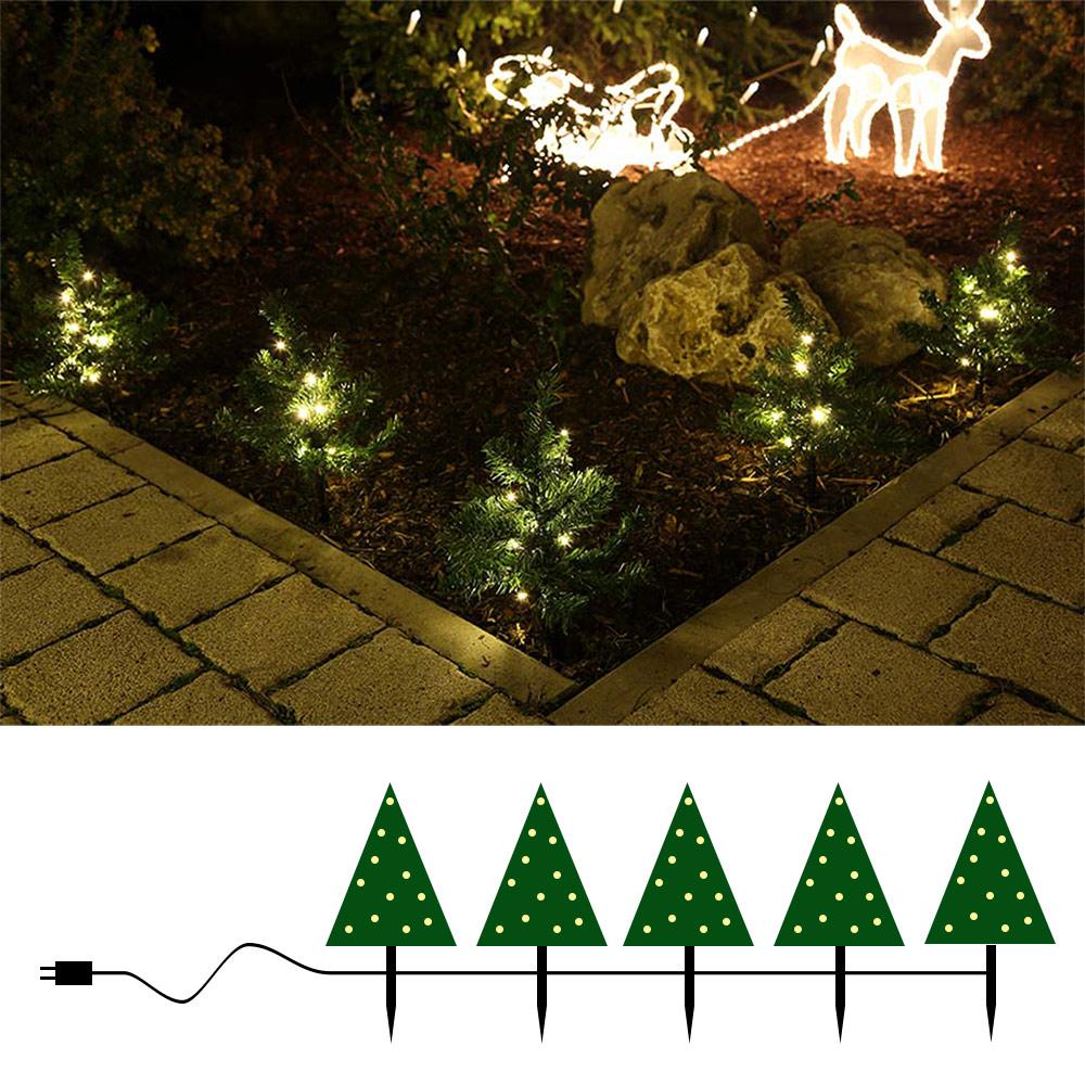 Mini Weihnachtsbäume beleuchtet