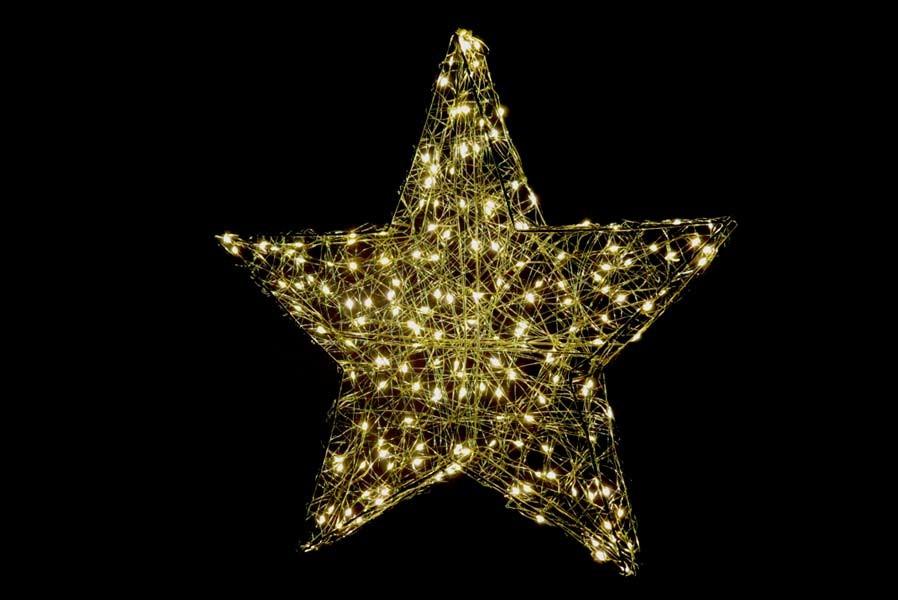 Fensterstern 58 cm beleuchtet Weihnachtsstern mit 180 LED ...