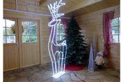 Rentier Weihnachtsfigur kaltweiß