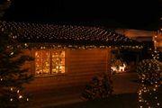 LED Lichternetz 4x4 als Weihnachtsdekoration
