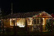 Lichternetz für Weihnachten außen