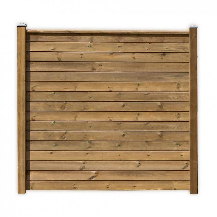 Sichtschutzzaun Flex A 180 Wand Mit Zwei Zaunpfosten Holz Kdi