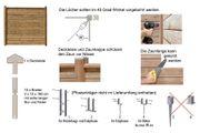 Sichtschutzzaun Flex-A 180 Wand mit zwei Zaunpfosten Holz KDI braun