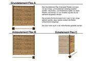 Anbauwand Flex-C für Ecke mit 1x Pfosten für Sichtschutzzaun Flex