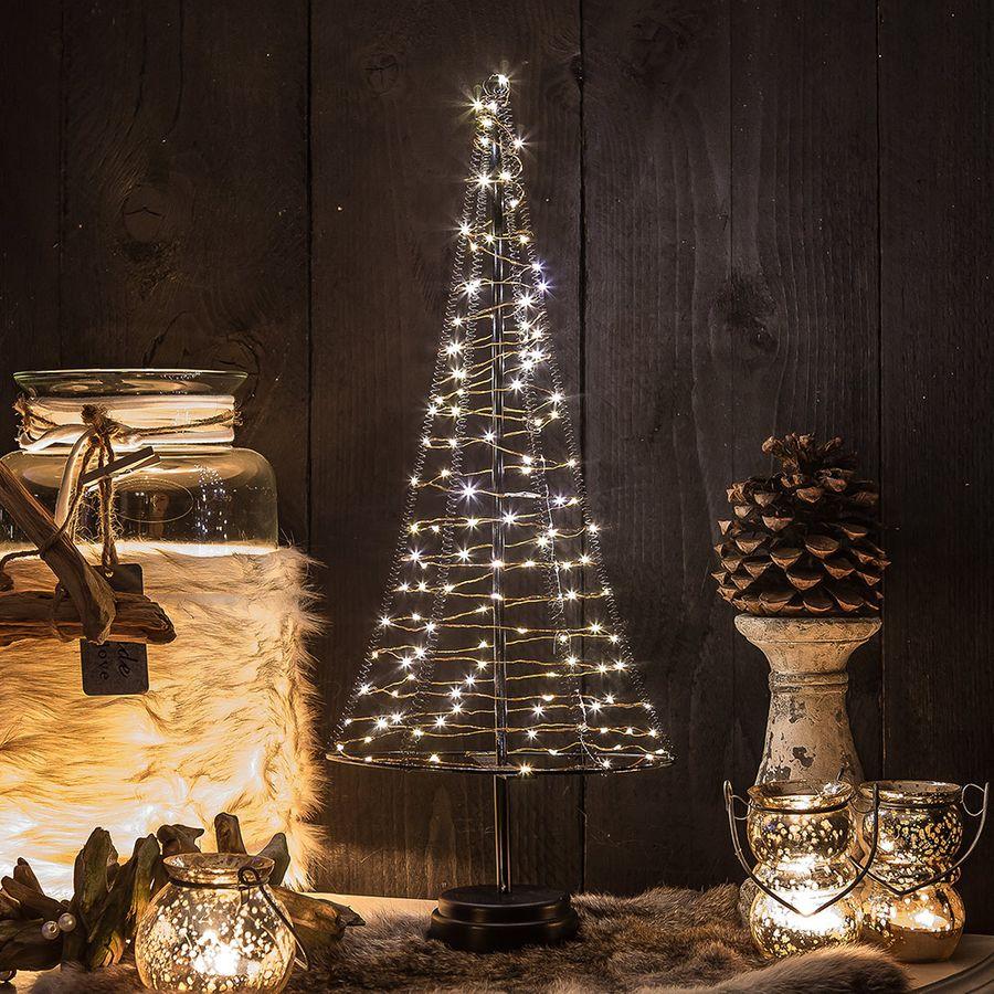 pyramide lichtkegel 50 cm 120 led aus metall weihnachtsbaum deko weihnachten ebay. Black Bedroom Furniture Sets. Home Design Ideas