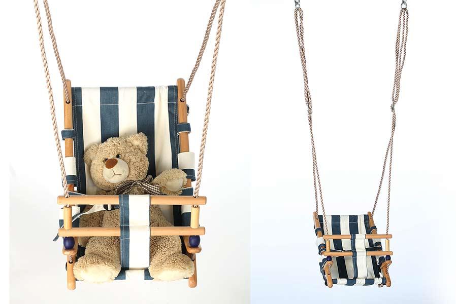 Klettergerüst Baby Holz : Babyschaukelsitz holz stoff