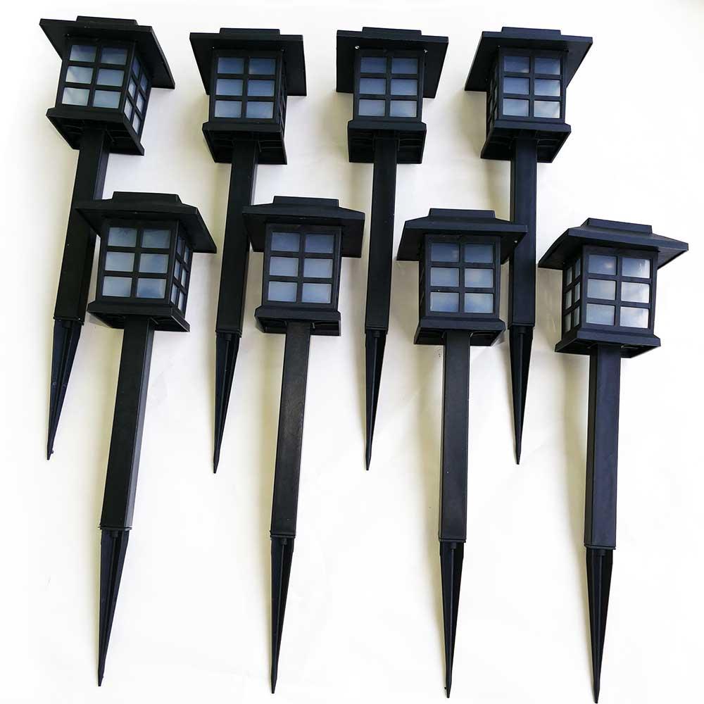 8er Set Solarleuchten LED Wegeleuchten