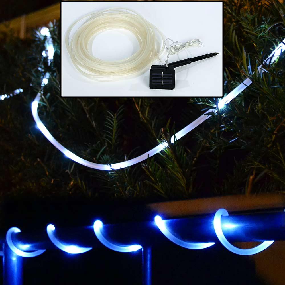 LED Lichterschlauch Lichtschlauch 22m blau 22 meter Zuleitung