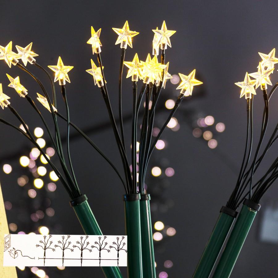B-Ware - 5x LED-Sternenstäbe Sternenleuchtstäbe Weihnachten