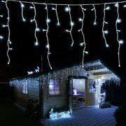 B-Ware -  LED Eisregen Lichterkette 168 LED kaltweiß LED 4,2 m - Gartenpirat