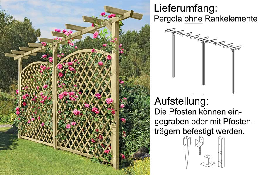 pergola holz im garten. Black Bedroom Furniture Sets. Home Design Ideas