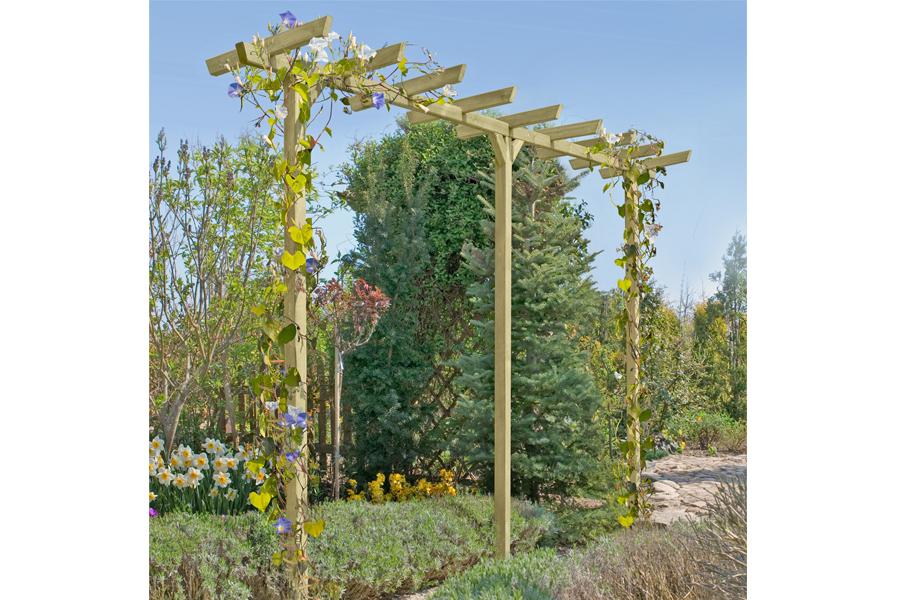 Pergola Holz im Garten