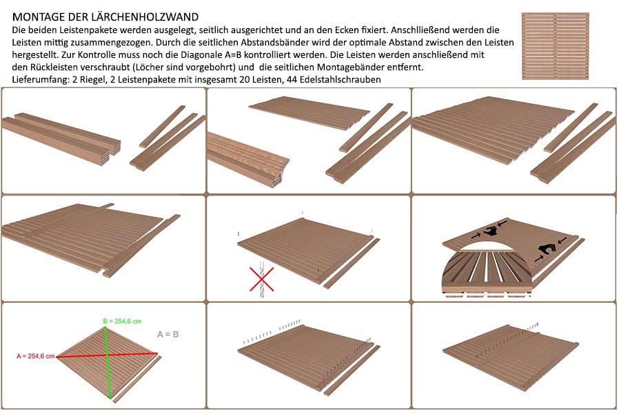 zaunelement 180 laerchenholz. Black Bedroom Furniture Sets. Home Design Ideas