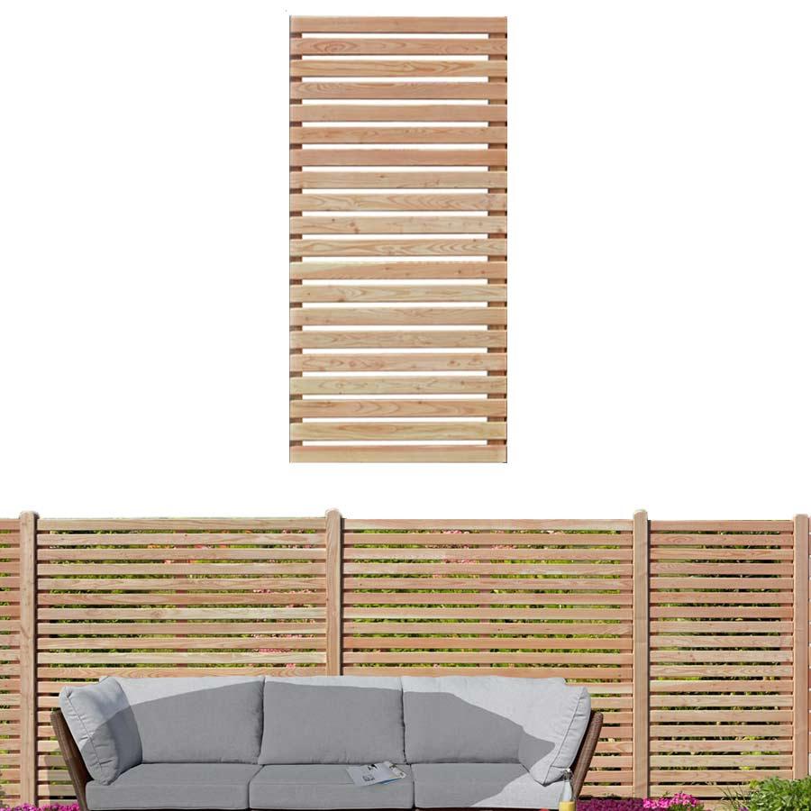 Sichtschutzzaun 90x180 cm aus Lärchenholz