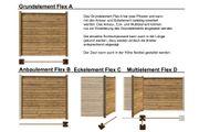 Anbauwand Flex-D Multi mit 2x Wand 2x Pfosten für Sichtschutzzaun Flex