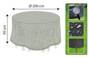 Abdeckhaube rund Ø ca. 200 x 95 cm für Sitzgruppe