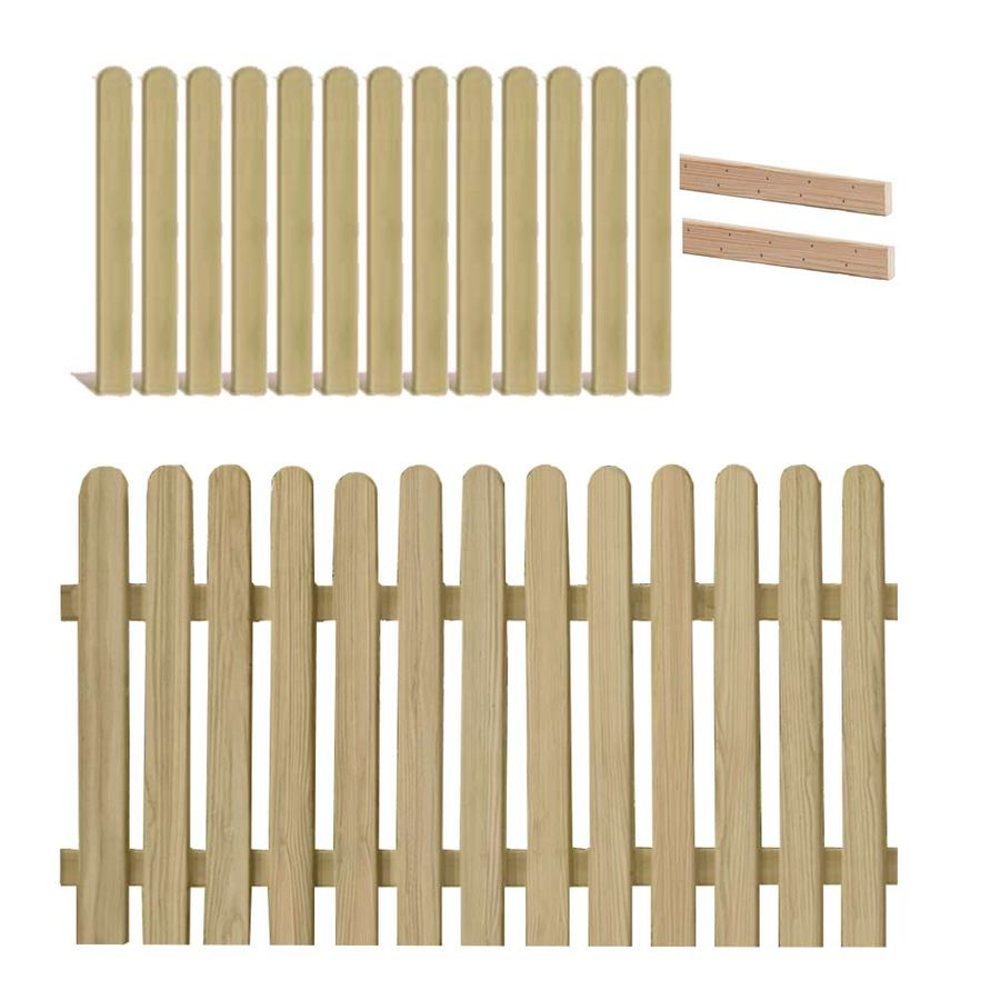 Holzpaket für Lattenzaun Lärche 180x90 cm
