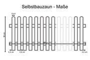 Holzpaket für Lattenzaun Lärche 180x90 mit 13 Zaunlatten 2 Riegel