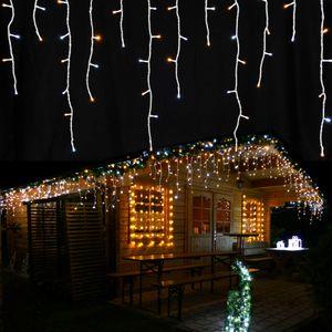Eisregen Lichterkette 480 LED-Mix warmweiß/kaltweiß Länge 12 m