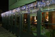 Eisregen-Lichterkette für Hausfassade