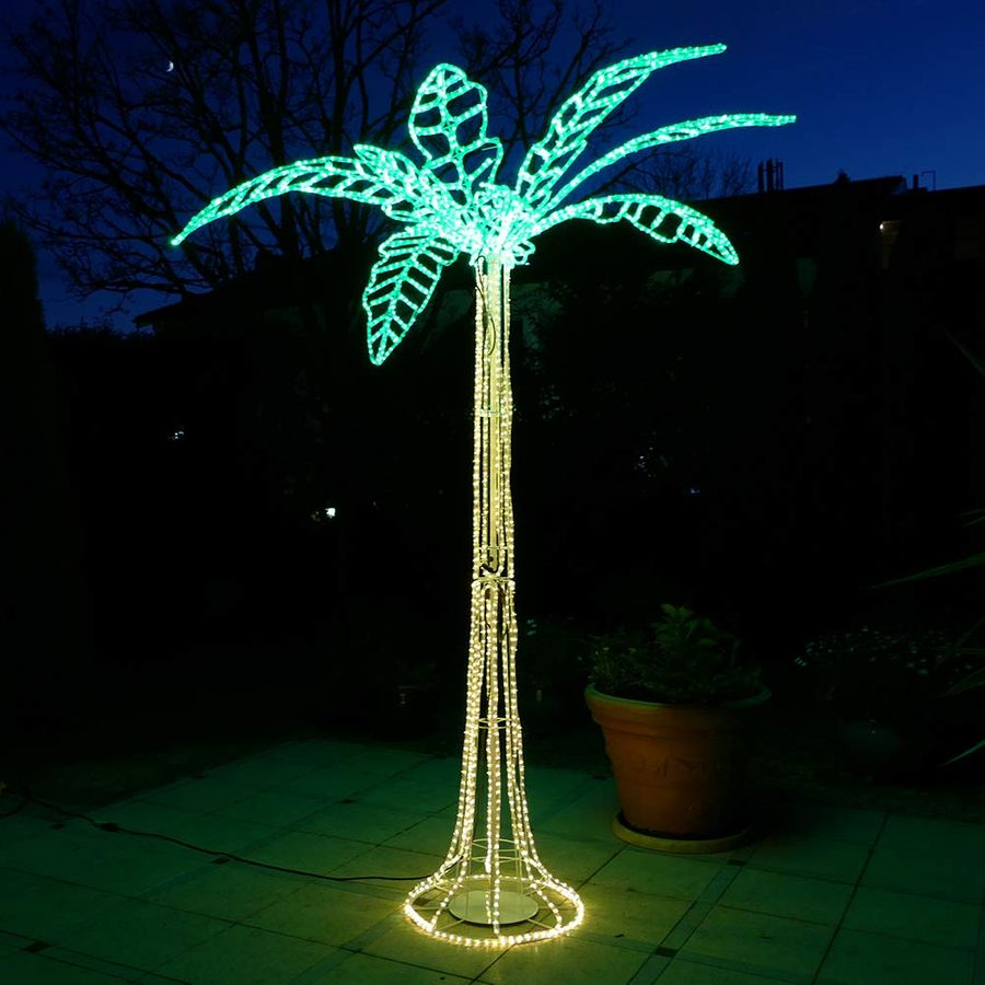 led palme 250 cm mit lichtschlauch beleuchtet deko baum f r disco bar schwimmbad ebay. Black Bedroom Furniture Sets. Home Design Ideas