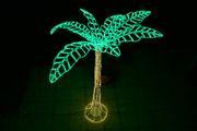 LED-Palme mit Beleuchtung aus Lichtschlauch